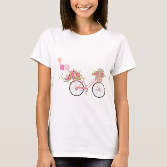 Whimsical Pink Bicycle T-Shirt