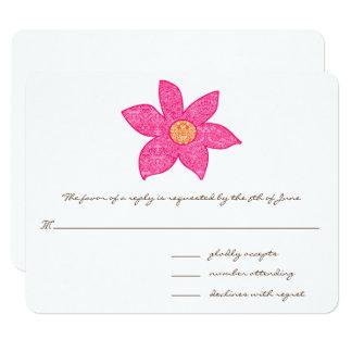 Whimsical Pink Flower Wedding Response Cards