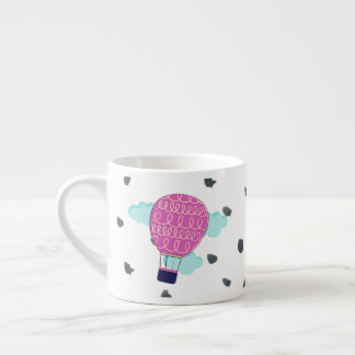 Whimsical Pink Hot Air Balloon Mug