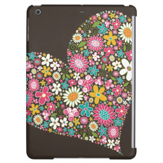 Whimsical Pink Spring Flowers Heart Custom Casing iPad Air Cover