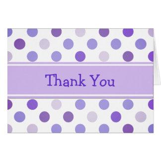 Whimsical Polka Dot Thank You Card