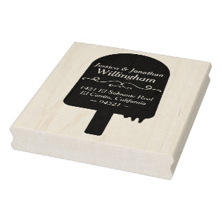 Whimsical Popsicle Return Address Stamp