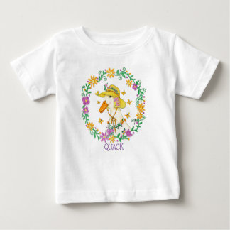 Whimsical Quack Duck in Wreath Baby T-Shirt