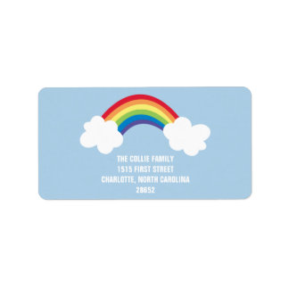 Whimsical Rainbow Address Label