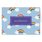 Whimsical Rainbow Personalised Thank You Notes
