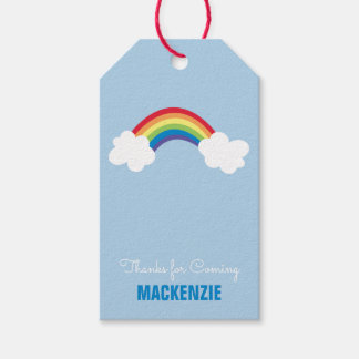 Whimsical Rainbow Personalized Birthday Gift Tag
