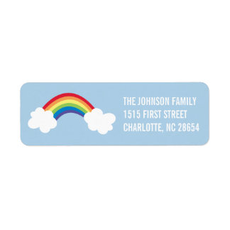 Whimsical Rainbow Return Address Label