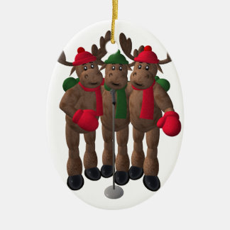 Whimsical Reindeer: The Moose Brothers Ceramic Oval Decoration