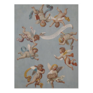 Whimsical Renaissance Cherub Angels Postcard
