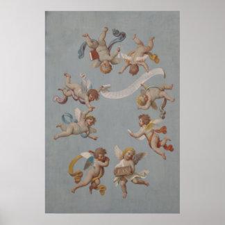Whimsical Renaissance Cherub Angels Poster