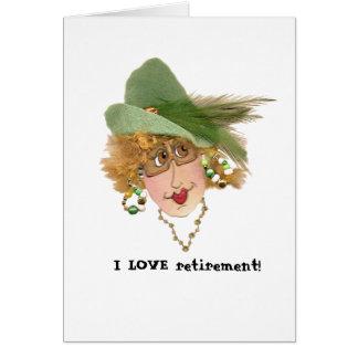 Whimsical Retired Gal Card