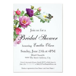 Whimsical Rose Bridal Shower Invitation