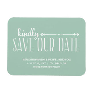 Whimsical Rustic Save the Date Magnet