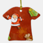 whimsical santa and presents pattern