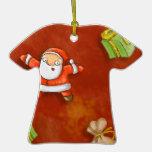 whimsical santa and presents pattern
