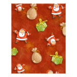 whimsical santa and presents pattern personalized flyer