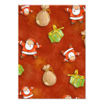 whimsical santa and presents pattern personalised invite