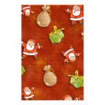 whimsical santa and presents pattern stationery paper