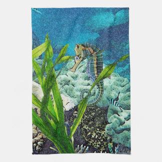 Whimsical Seahorse Tea Towel