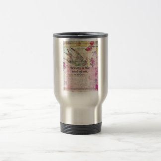 Whimsical Shakespeare quote from Hamlet Travel Mug