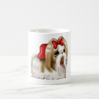 whimsical SHIH TZU DOG Coffee Mug