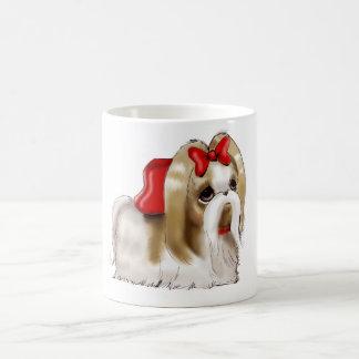 whimsical SHIH TZU DOG Basic White Mug
