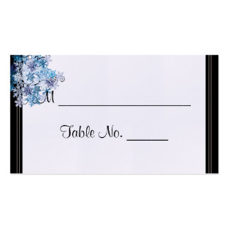 Whimsical Snowflake Tree Posh Wedding Place Cards Business Card Templates