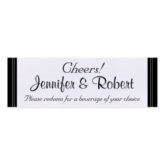Whimsical Snowflake Tree Wedding Drink Tickets Business Card Templates