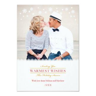 Whimsical Snowflakes Holiday Photo Card 13 Cm X 18 Cm Invitation Card