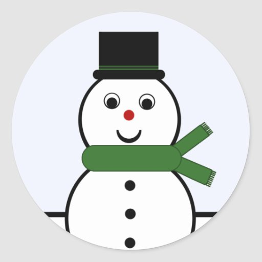 Whimsical Snowman Christmas Stickers