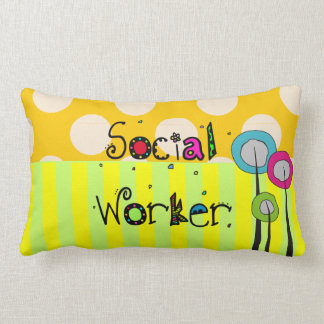Whimsical Social Worker Pillow