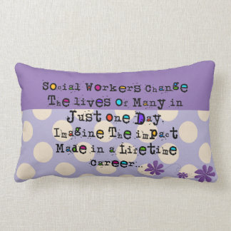 Whimsical Social Worker Pillow  Purple