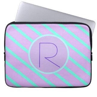 Whimsical soft-Basic Monogram R-Laptop Sleeve