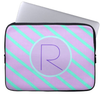 Whimsical soft-Basic Monogram R-Laptop Sleeve Computer Sleeve