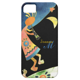 Whimsical Southwest Kokopelli Monogram iPhone 5 Barely There iPhone 5 Case