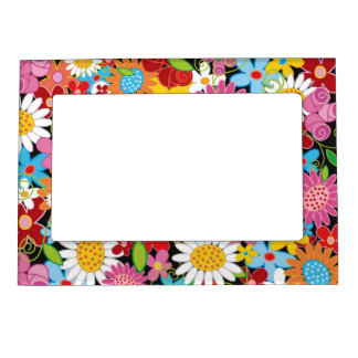Whimsical Spring Flowers Garden Floral Frame