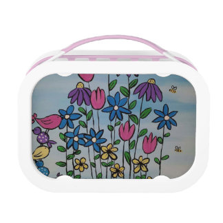 Whimsical Spring Flowers Lunch Box