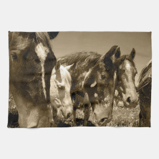 Whimsical Stallions Horse Kitchen Towel