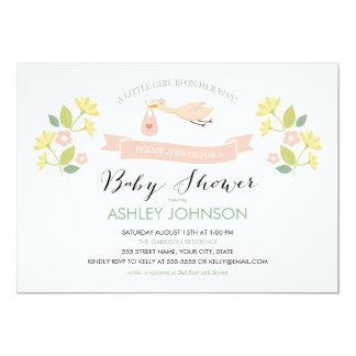 Whimsical Stork Baby Shower Invitation