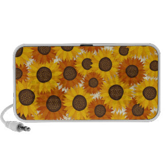 Whimsical sunflowers portable doodle speakers