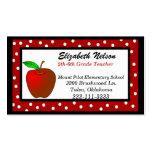 Whimsical Teacher's business card