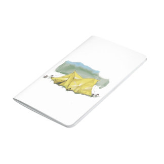 Whimsical Tent Illustration Pocket Journal