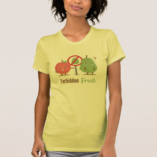 Whimsical, The Forbidden Fruit, Apple and Durian Tshirt