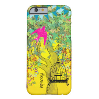 Whimsical Tree Birdcage Bright Color Musical Notes Barely There iPhone 6 Case