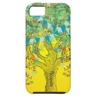 Whimsical Tree Birdcage Bright Color Musical Notes iPhone 5 Cover