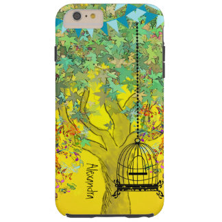 Whimsical Tree Birdcage Bright Color Musical Notes Tough iPhone 6 Plus Case