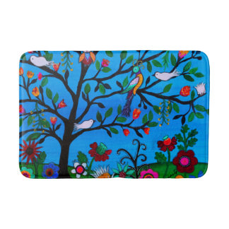 Whimsical Tree By Prisarts Bath Mat