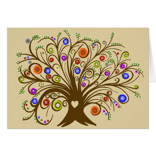 Whimsical Tree Card