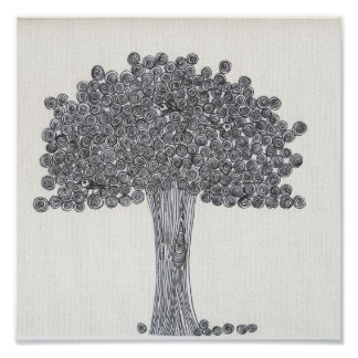 Whimsical Tree - See any birds? Poster