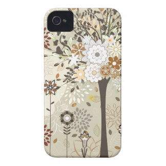 Whimsical trees and flowers iphone 4 case